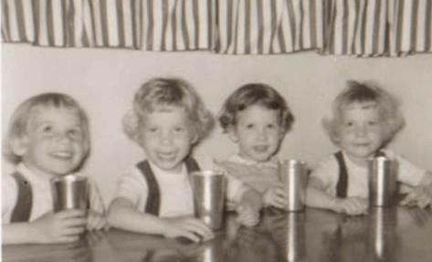 ann with Miller cousins.1961